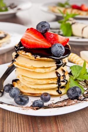 palatschinken: S��e Pfannkuchen mit Schokolade