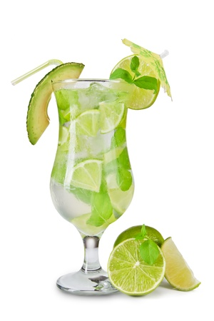 Mojito cocktail isolated on white background Stock Photo - 14048267