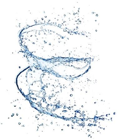 흰색 배경에 절연 물 나선형,