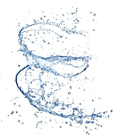 Water spiral, isolated on white background Stock Photo