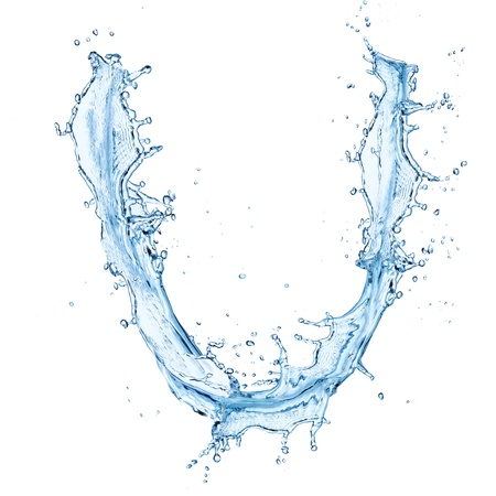 water alphabet: Water splashes letter