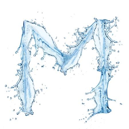 Water splashes letter Stock Photo - 14209372