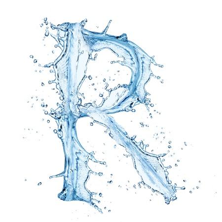 Water splashes letter Stock Photo - 14209370