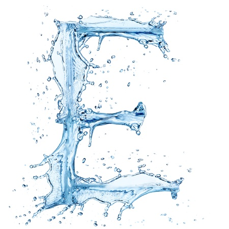 Water splashes letter  photo