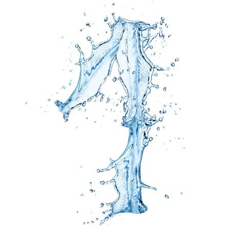 no water: Water splashes number