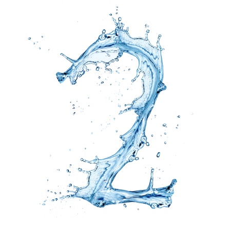 Water splashes number  Stock Photo - 14209379