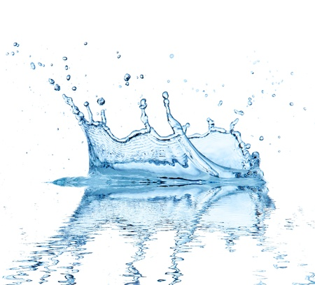 falling water: Water splash, isolated on white background Stock Photo