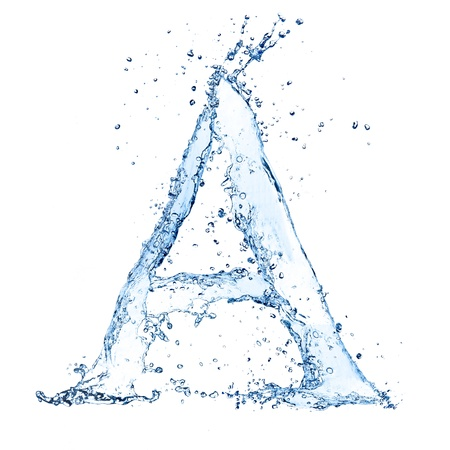 bubble alphabet: Water splashes letter