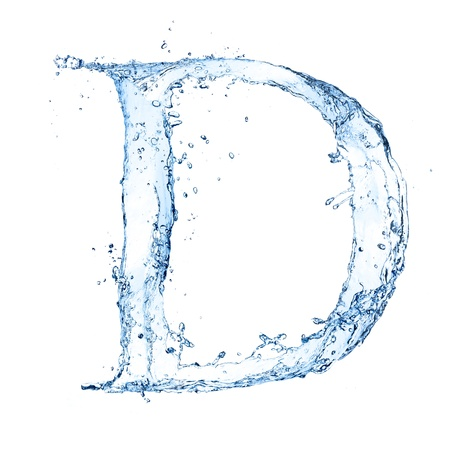 ice alphabet: Water splashes letter