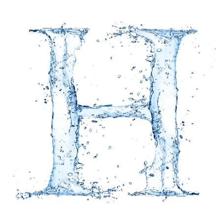 Water splashes letter  Stock Photo - 14815655
