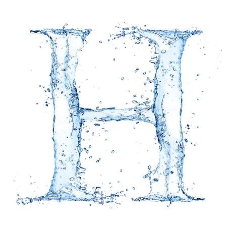 Water splashes letter  photo