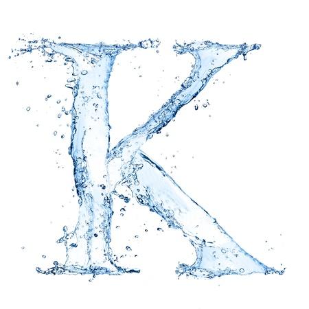 Water splashes letter Stock Photo - 14815649