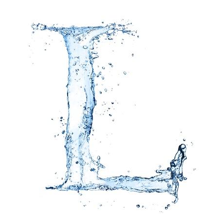 agua liquida carta: El agua salpica carta