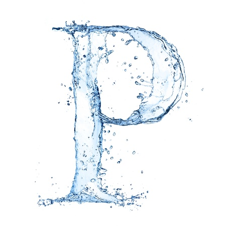 ice alphabet: Water splashes letter Stock Photo
