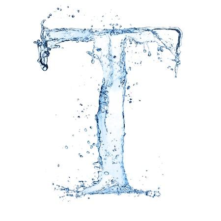 ice alphabet: Water splashes letter Stock Photo