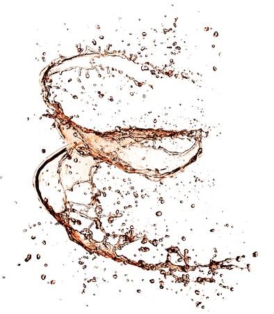 soft drinks: Cola splash, isolated on white background