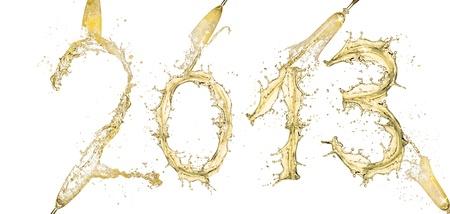 Water splashes number  0  isolated on white background photo