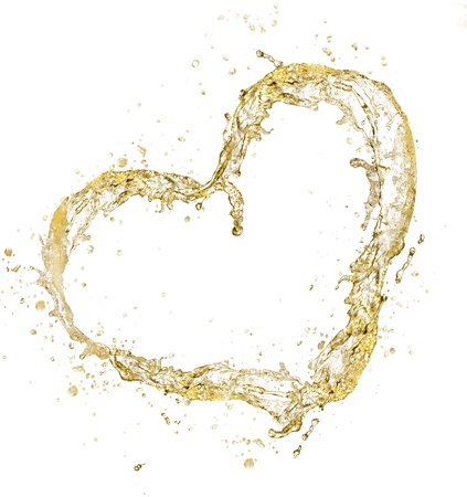 Champagne heart photo