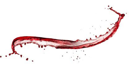 splashed: Red wine splash, isolated on white background