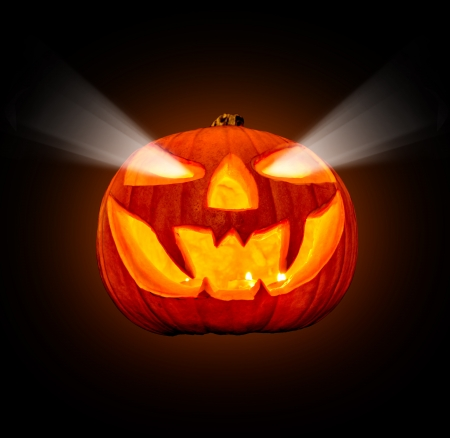 carved pumpkin: Halloween pumpkin isolated on white background