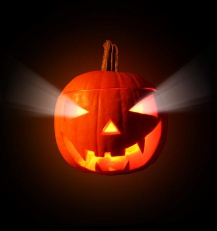 carved pumpkin: Burning pumpkin