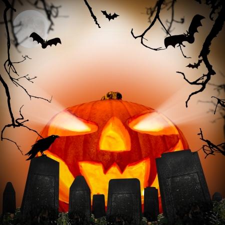 cemetry: Spooky halloween background