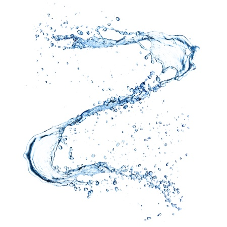 water stream: Water splash  isolated on white background
