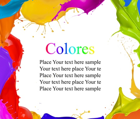 Colored splashes background with free space for text photo