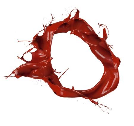 splash mixed: Chocolate splash in round shape, isolated on white background