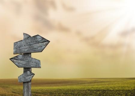 savana: Empty quide-post in savana