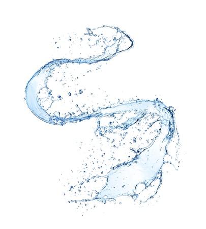 agua: Salpicaduras de agua aisladas sobre fondo blanco Foto de archivo