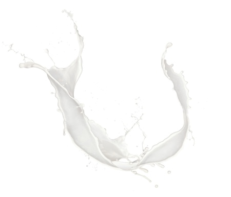 refrigerant:  Milk splash, isolated on white background