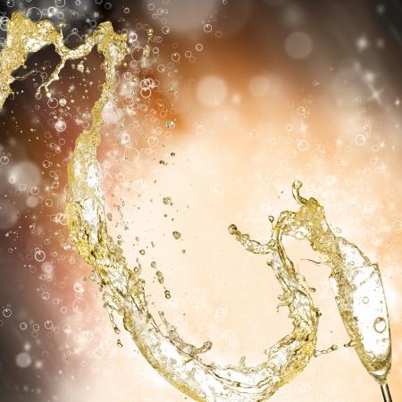 Celebration theme with splashing champagne Stock Photo - 15994162