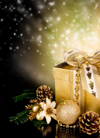 Celebration theme with christmas gift Stock Photo - 15994245