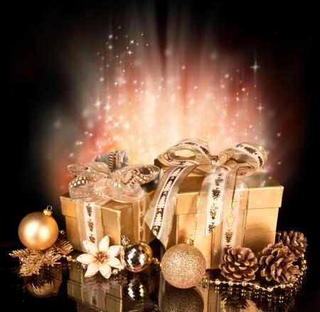 cajas navide�as: Celebraci�n del tema con los regalos de Navidad