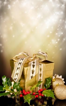Celebration theme with christmas gift Stock Photo - 15994216