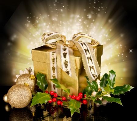 Celebration theme with christmas gift Stock Photo - 15994220