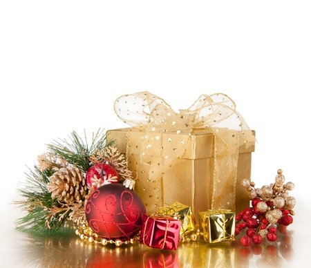 Celebration theme with christmas gift Stock Photo - 15994221