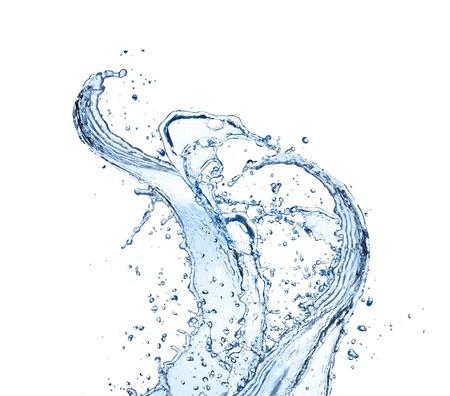 Water splashes isolated on white background