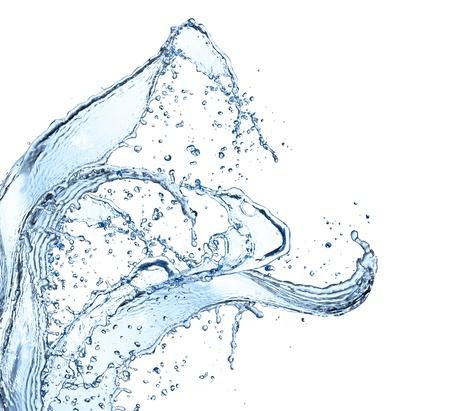 agua: El agua salpica aislado en el fondo blanco