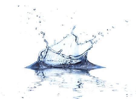 spews: Water splash isolated on white background