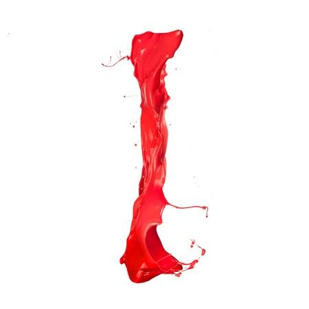 Red paint splash letter Stock Photo - 16111074