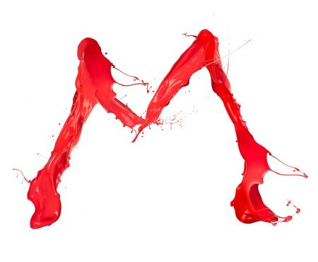 Red paint splash letter  photo