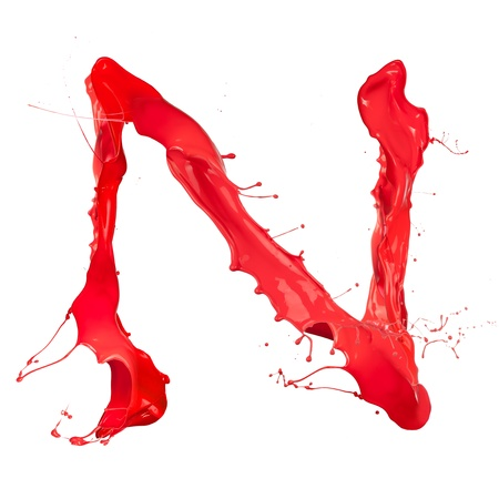 Red paint splash letter  photo