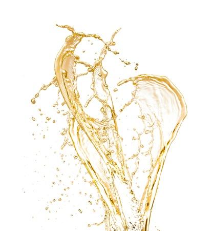 Champagne wine splash, isolated on white background photo