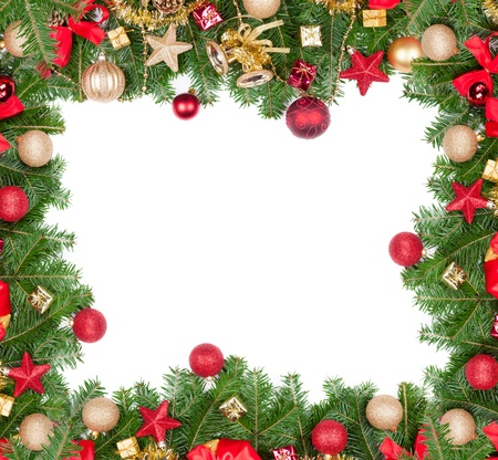 Christmas frame with free space for text Stock Photo - 16213389