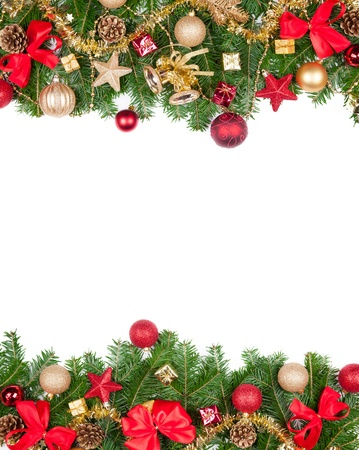 free christmas: Christmas frame with free space for text