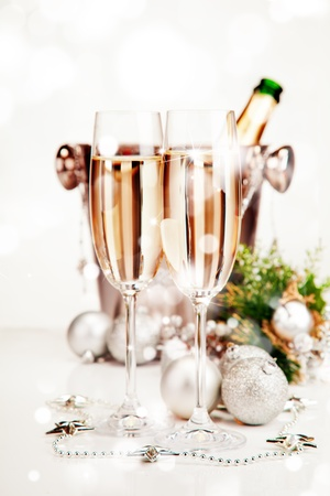 Celebration theme with champagne wine photo