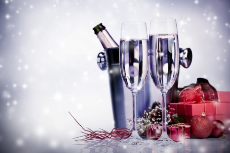 christmas drink: Celebration theme with champagne wine