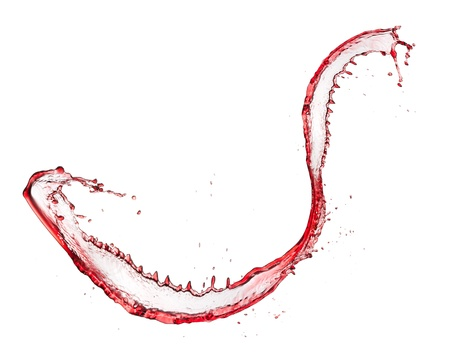 Red wine splash, isolated on white background  photo